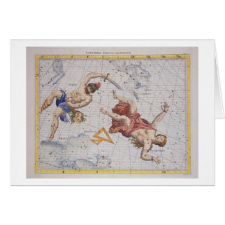 Constellation of Perseus and Andromeda, from 'Atla Greeting Card
