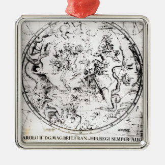 Constellations of the Southern Hemisphere Silver-Colored Square Decoration