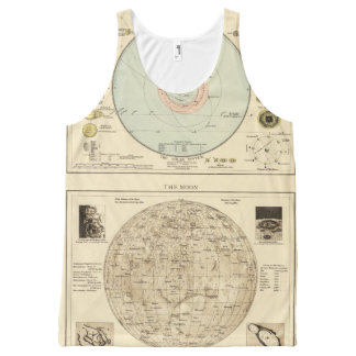 Constellations, Solar System, Moon All-Over Print Tank Top