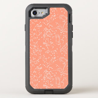 Constellations Zodiac / Peach/Blush /Andrea Lauren OtterBox Defender iPhone 7 Case