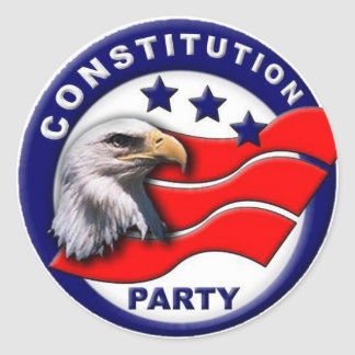 Constitution Party logo Classic Round Sticker