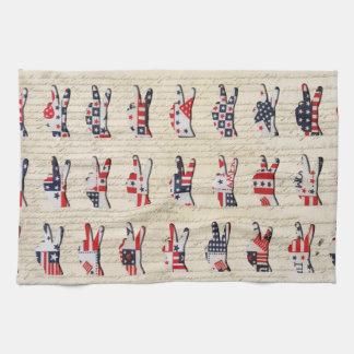 Constitution Peace Tea Towel