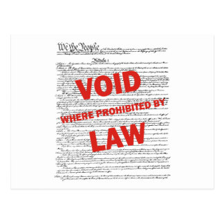 Constitution - VOID Postcard