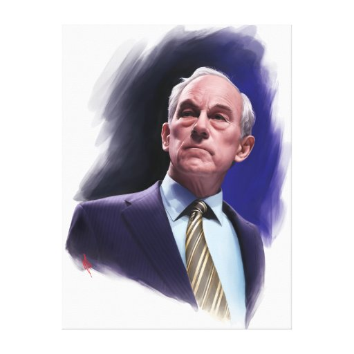 Constitutional Champion Ron Paul Suit and Tie Bust Canvas Prints