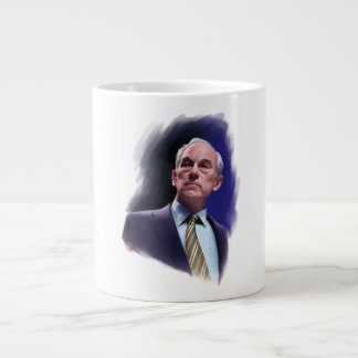 Constitutional Champion Ron Paul Suit and Tie Bust Jumbo Mug