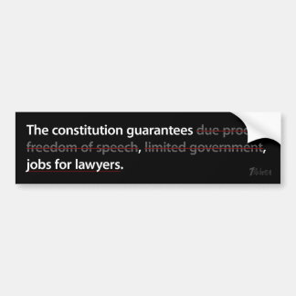 Constitutional Guarantees Bumper Sticker