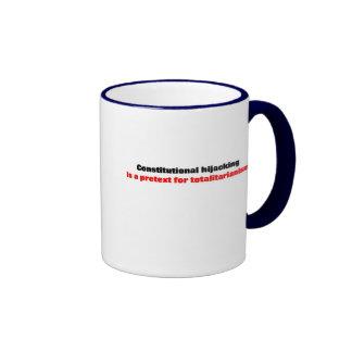 Constitutional hijacking ringer coffee mug