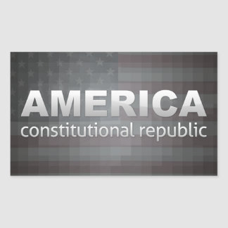 Constitutional Republic Rectangular Sticker