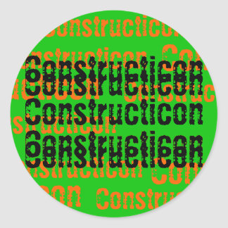 Constructicon Hard Hat Sticker
