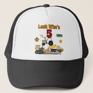 Construction 5th Birthday Tshirts and Gifts Trucker Hat