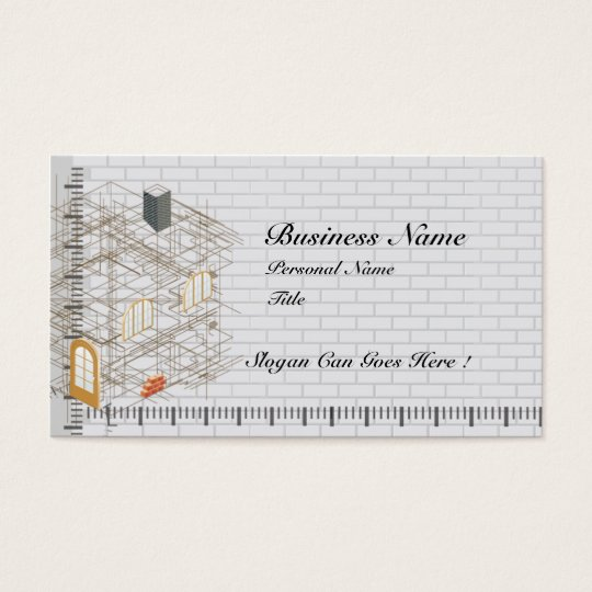 Construction Architecture Business Business Card