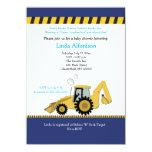Construction Backhoe Baby Shower Invitation 11 Cm X 16 Cm Invitation Card
