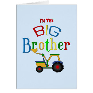 Construction Big Brother Gifts Greeting Card
