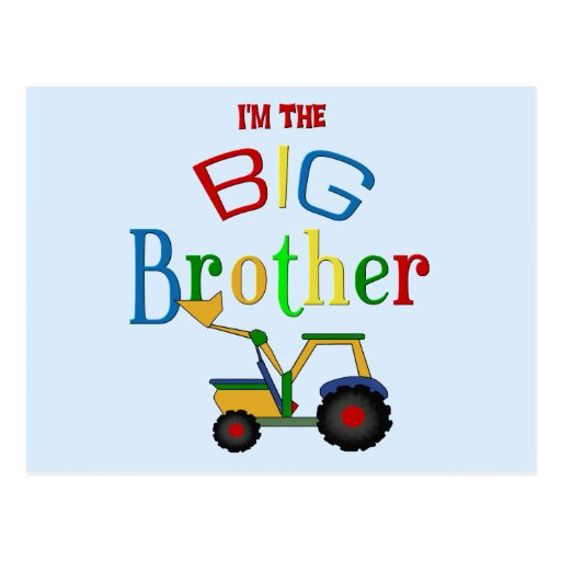 Construction Big Brother Gifts Post Cards