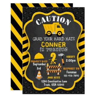 Construction Birthday Invitation | Dump Truck |
