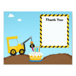 Construction Birthday Party Thank You Card Personalised Invite
