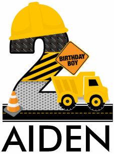 Construction Birthday Shirt Age 2 Reglan T