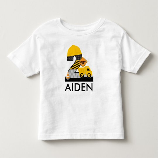 Construction Birthday Shirt, Dump Truck Age 2 Toddler