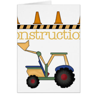 Construction Bucket Loader Greeting Cards