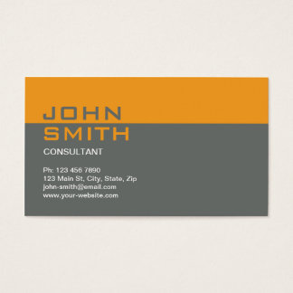 Construction Builder Contractor Mechanic Plain Business Card