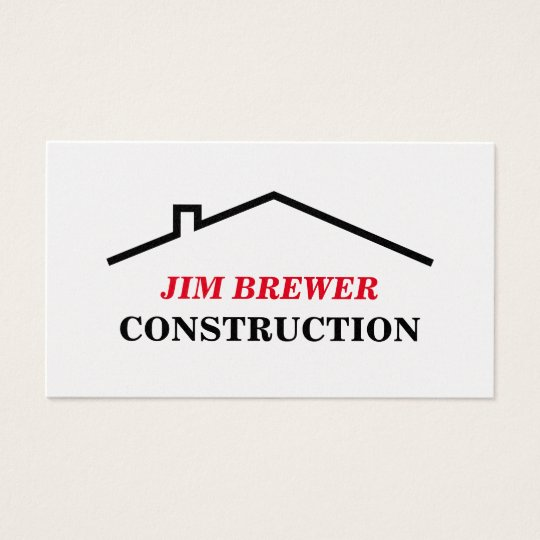 Construction business card template for builders