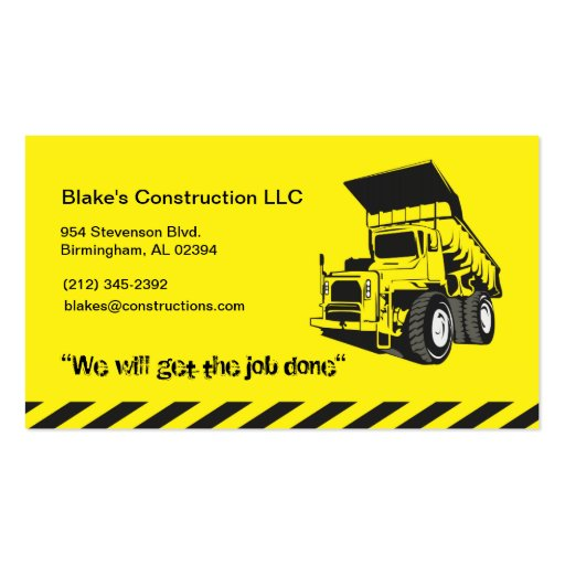 Construction zazzle for Construction business card templates