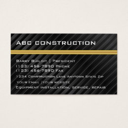 Construction supply business cards business card printing zazzle uk construction business cards reheart Choice Image