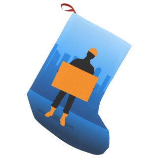 Construction Business Small Christmas Stocking