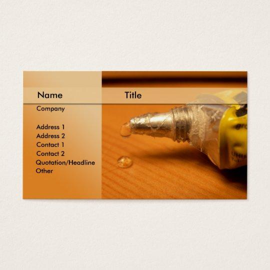 construction / carpenter business card