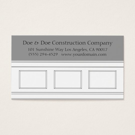 Construction Carpenter Wainscotting Moulding Business Card