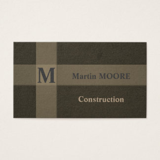 Construction concrete building hard surface style business card