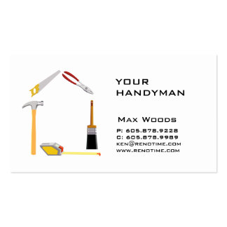 Construction Contractor Handyman Business Card