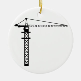 Construction Crane Christmas Ornament
