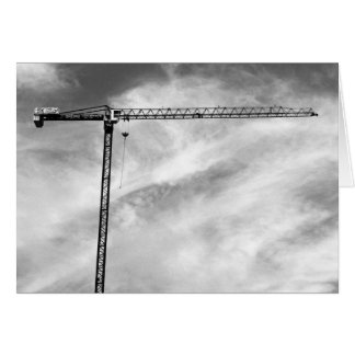 Construction Crane Greeting Card