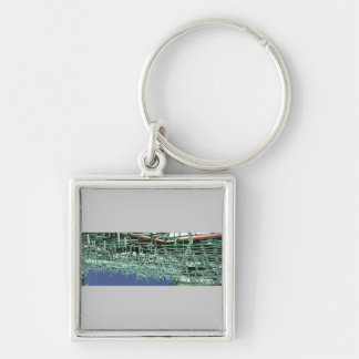 construction details Silver-Colored square key ring