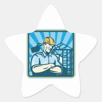 Construction Engineer Foreman Worker Sticker