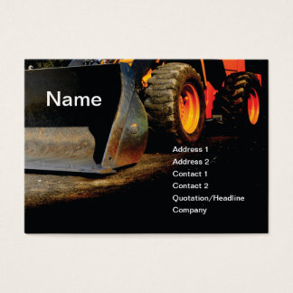 construction equipment business card