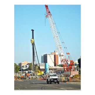 Construction equipments custom flyer