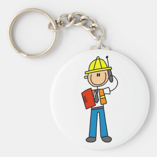 Construction Foreman Tshirts and Gifts Key Ring