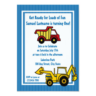 Construction Fun Dump truck Photo Card