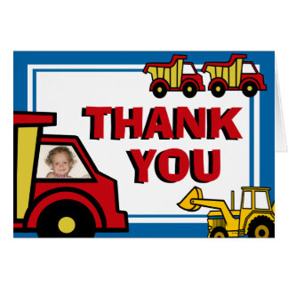 Construction Fun Thank You Card