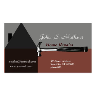 Construction Handyman Tool Pack Of Standard Business Cards