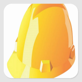 Construction helmet design square sticker