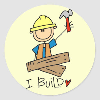 Construction I Build T-shirts and Gifts Round Sticker