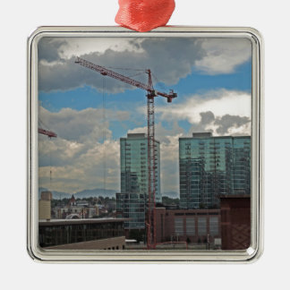 Construction in Downtown Denver Colorado Christmas Ornament