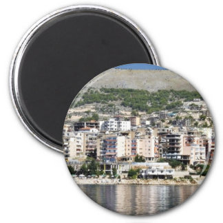 Construction In Sarande Town In Albania Magnet