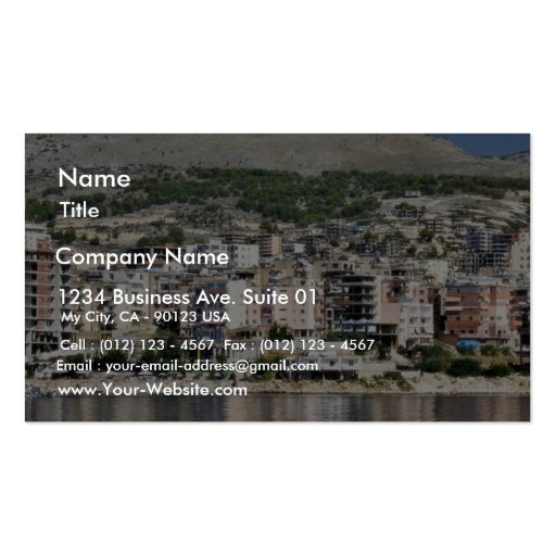 Construction In Sarande Town In Albania Pack Of Standard Business Cards