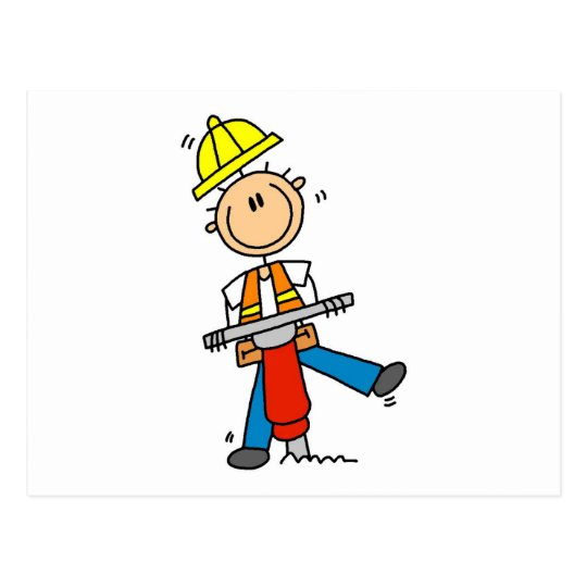 Construction Jack Hammer T-shirts and Gifts Postcard