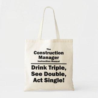 construction manager canvas bag