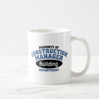 Construction Manager Basic White Mug